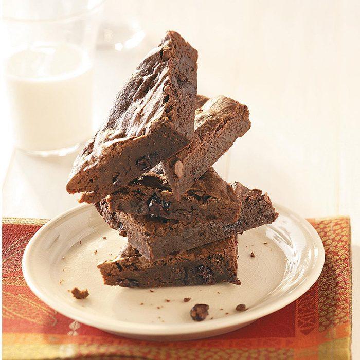 Cranberry-Port Fudge Brownies