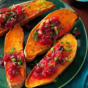 Cranberry-Walnut Sweet Potatoes