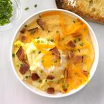 Creamy, Cheesy Grits with Curried Poached Eggs