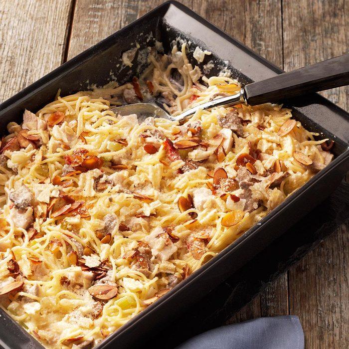 Creamy Chicken Tetrazzini Casserole