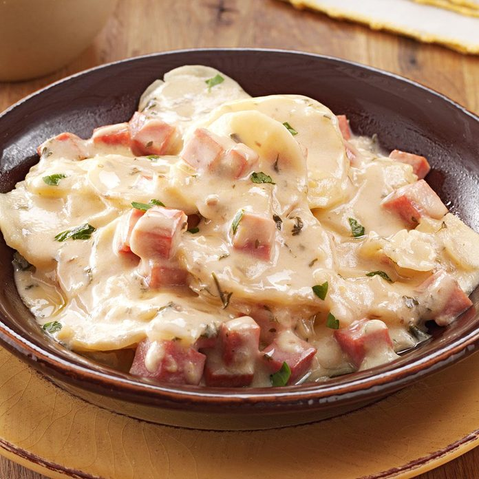 Creamy Mushroom Ham & Potatoes