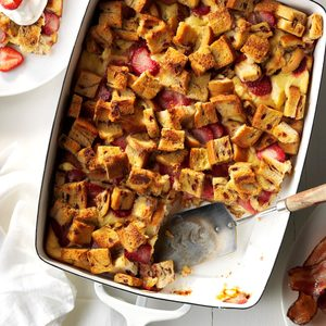 Creamy Strawberry French Toast Bake