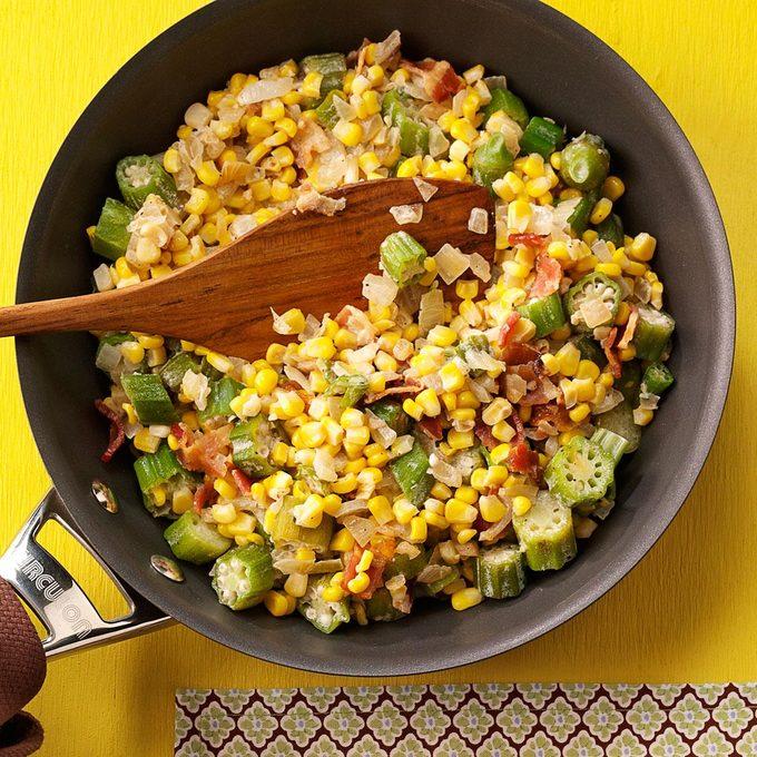 Creamy Sweet Corn with Okra