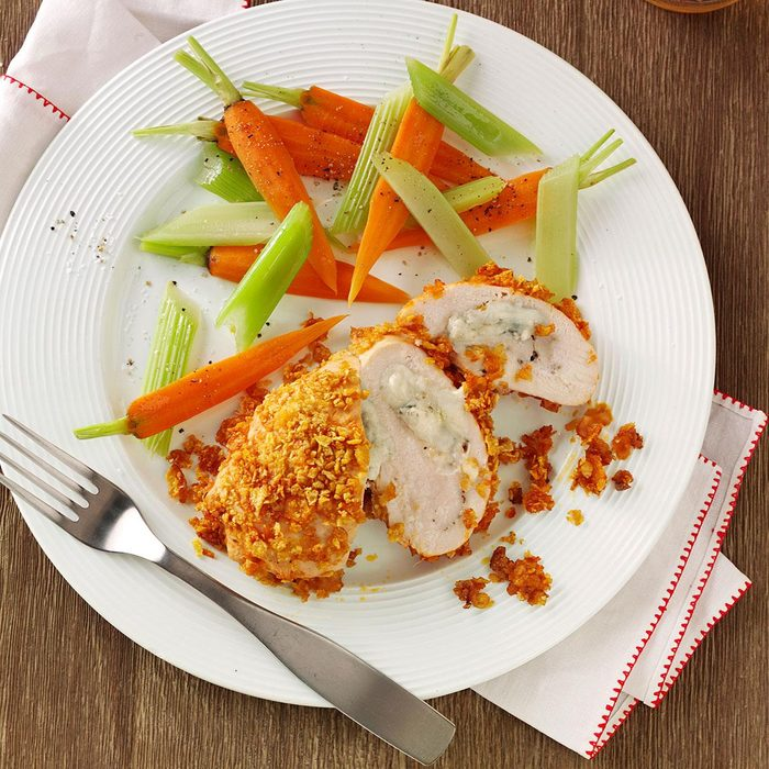 Crispy Buffalo Chicken Roll-Ups for Two