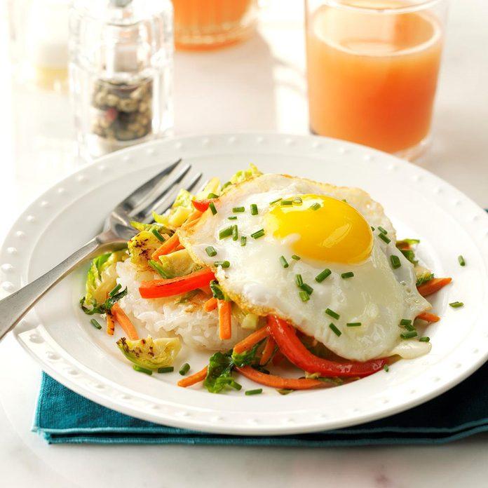 Crispy Rice Patties with Vegetables & Eggs