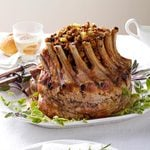 Crown Pork Roast with Apple-Cranberry Stuffing