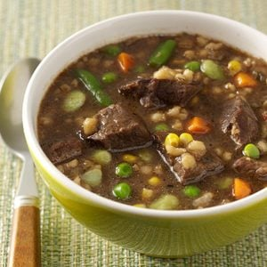 Cubed Beef and Barley Soup