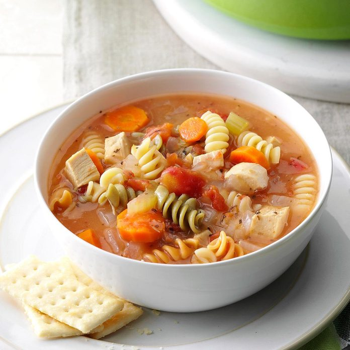Curly Noodle Chicken Soup