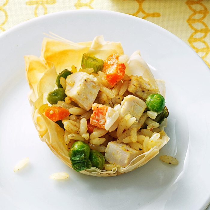 Curried Chicken and Rice Tartlets
