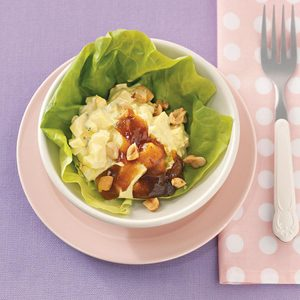 Curried Egg Lettuce Cups