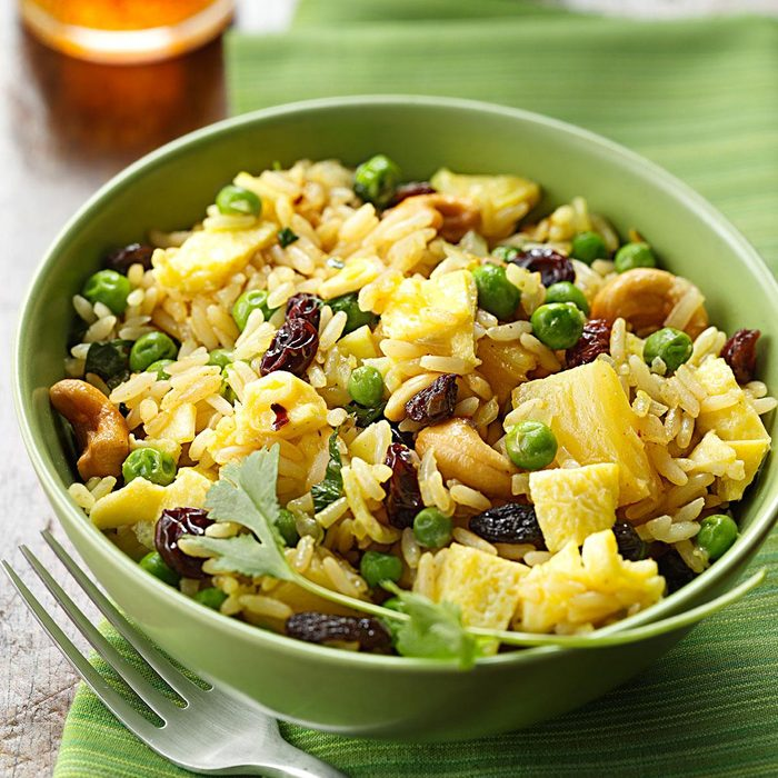 Curried Fried Rice with Pineapple