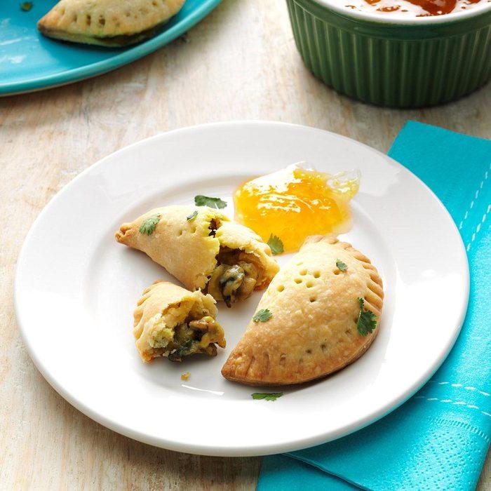 Appetizers & Small Plates: Curried Mushroom Empanadas