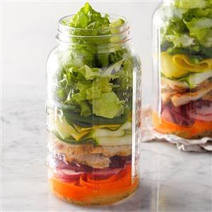 Day 1 Lunch: DIY Salad in a Jar