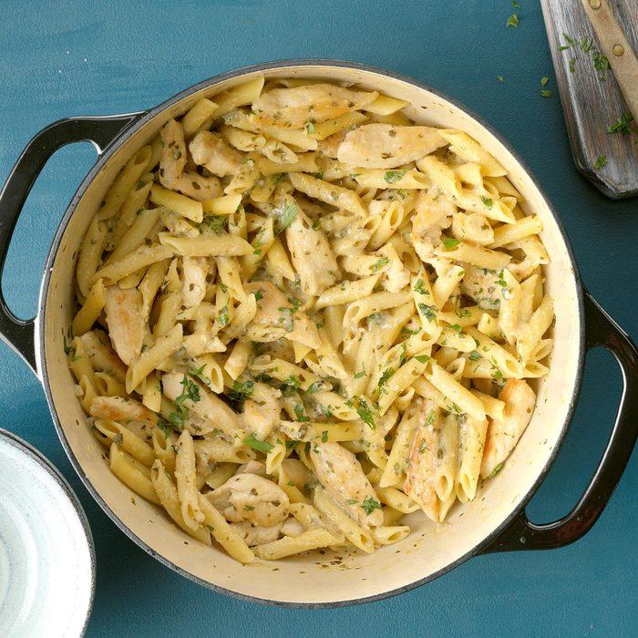 Delish Pesto Pasta With Chicken Marsala Exps Ciwmz19 146040 B09 10 4b 7