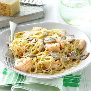 Dijon Shrimp with Pasta