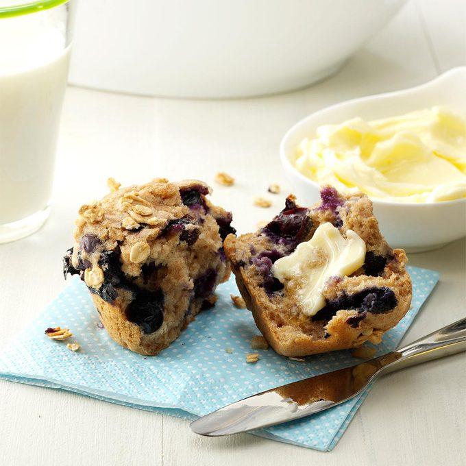 Granola Blueberry Muffins