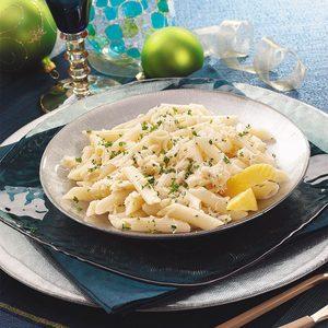 Lemon-Garlic Penne with Crab