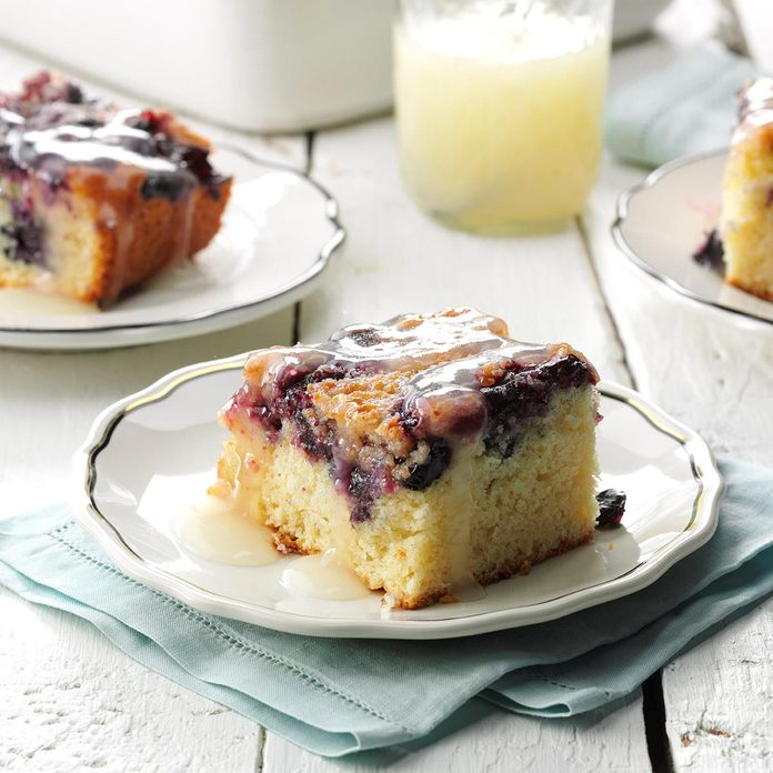 Blueberry Buckle with Lemon Sauce