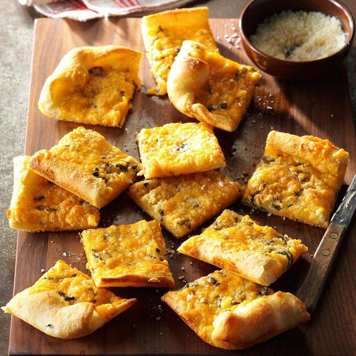 North Carolina: Garlic-Cheese Flat Bread