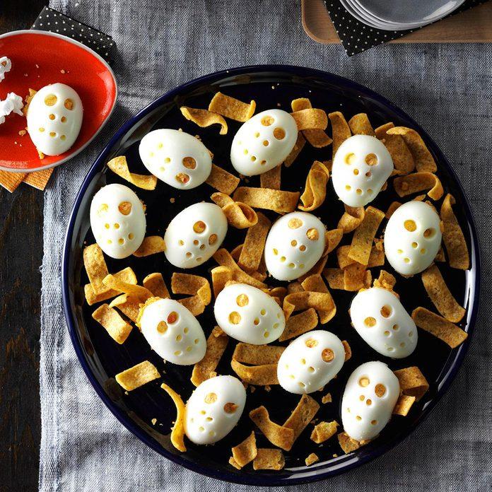 Skull Deviled Eggs