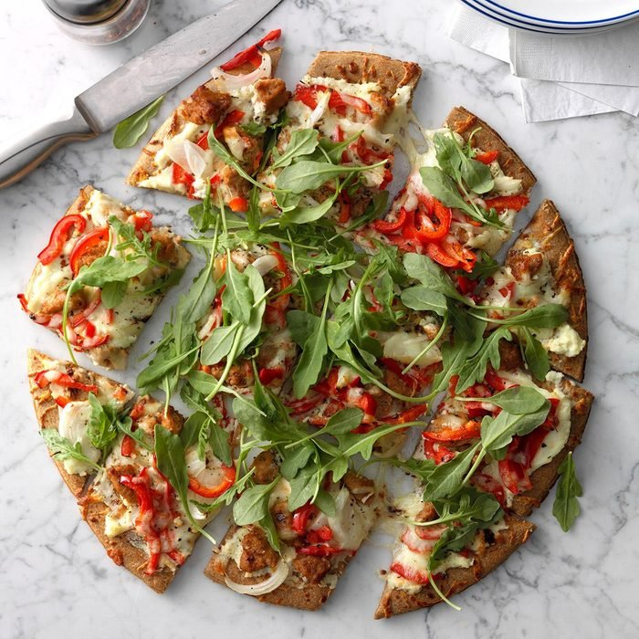 Sausage-Topped White Pizza