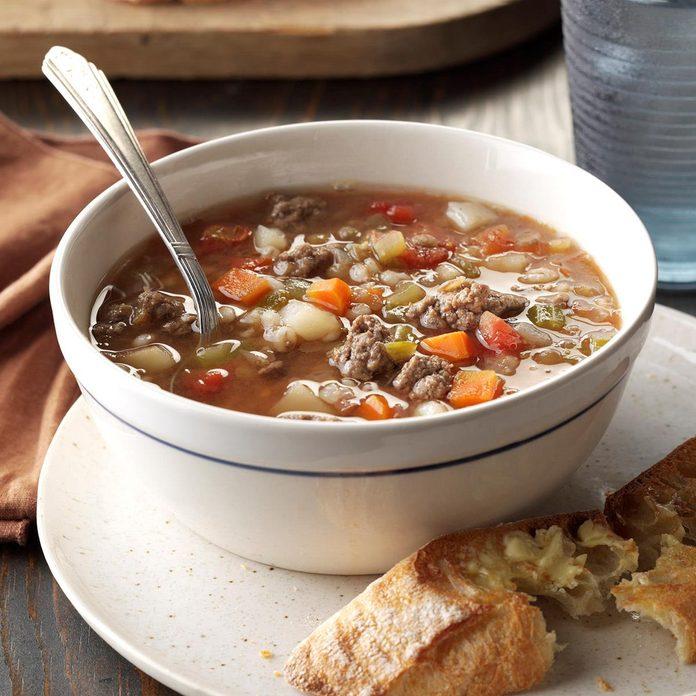 Beef Barley Lentil Soup