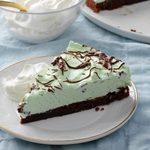 Mint Brownie Pie