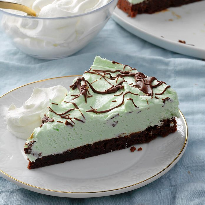 Mint Brownie Pie
