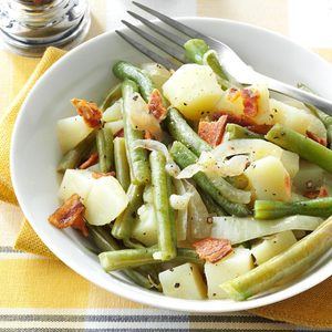 Easy Beans & Potatoes with Bacon