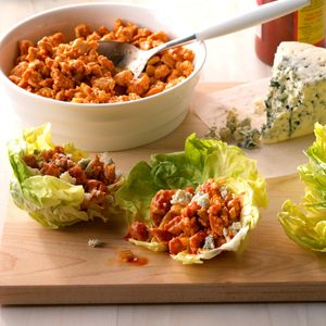 Easy Buffalo Chicken Lettuce Wraps