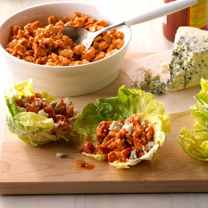 Day 13: Easy Buffalo Chicken Lettuce Wraps