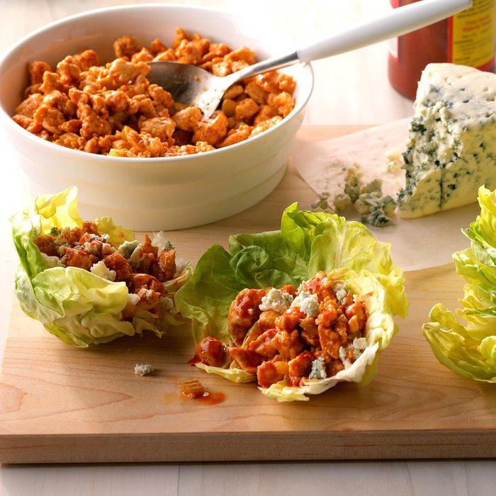 Easy Buffalo Chicken Lettuce Wraps