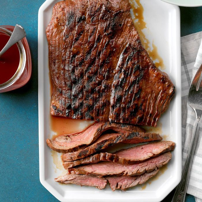 Easy Marinated Grilled Flank Steak