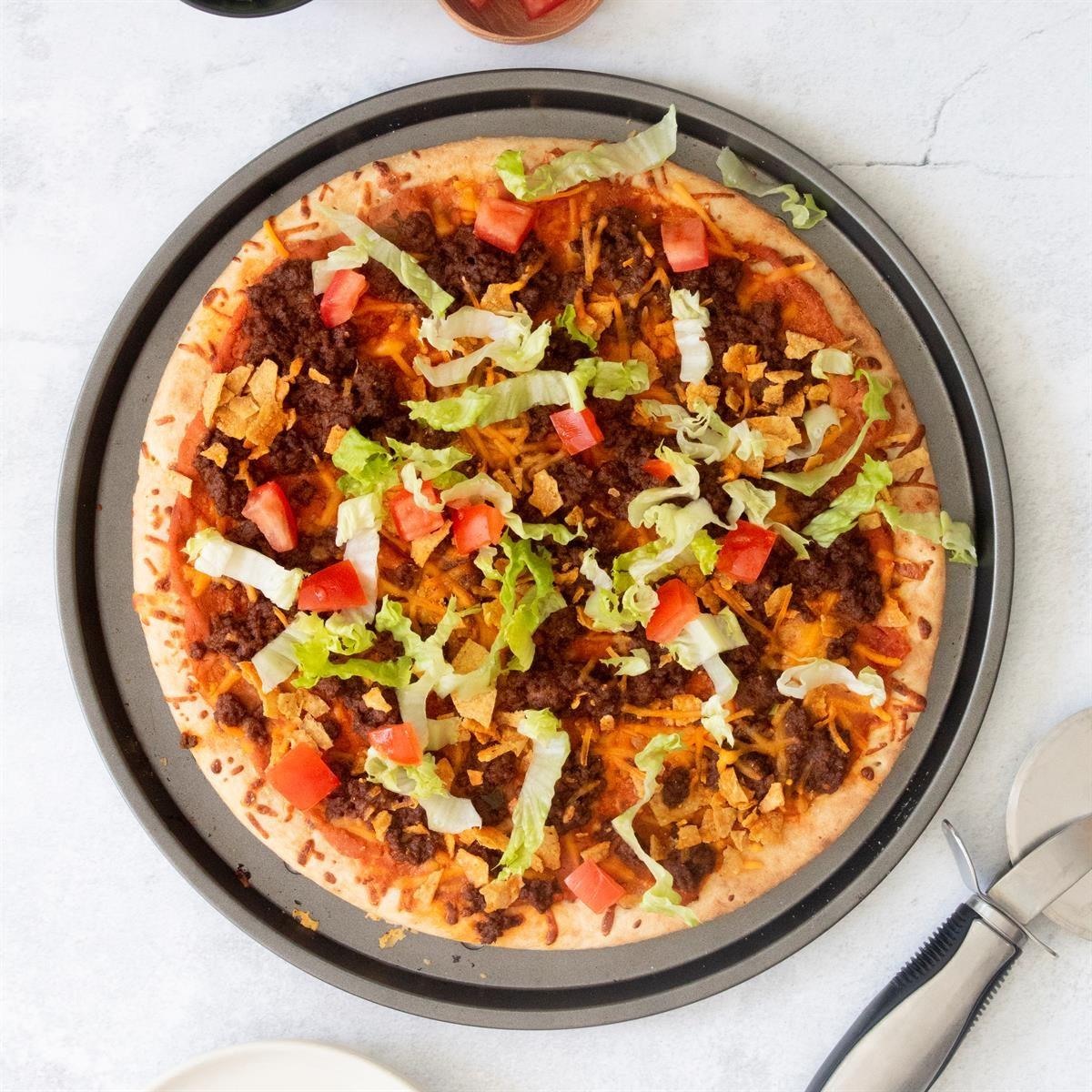 Day 7: Easy Taco Pizza