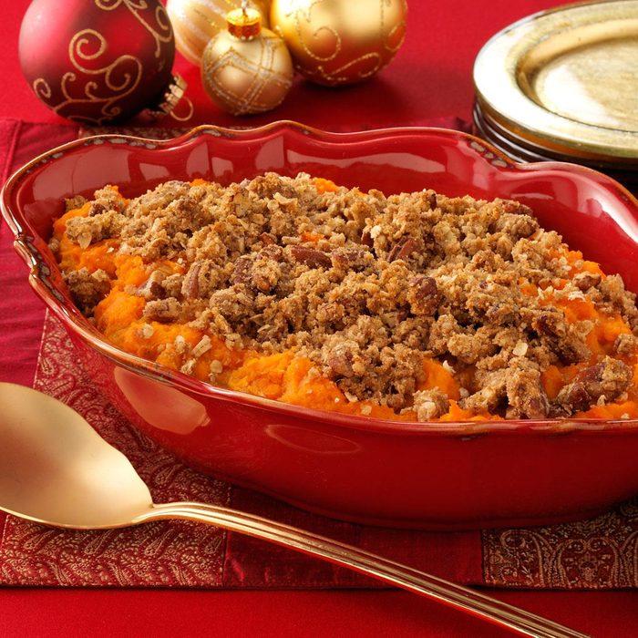 Eggnog Sweet Potato Casserole