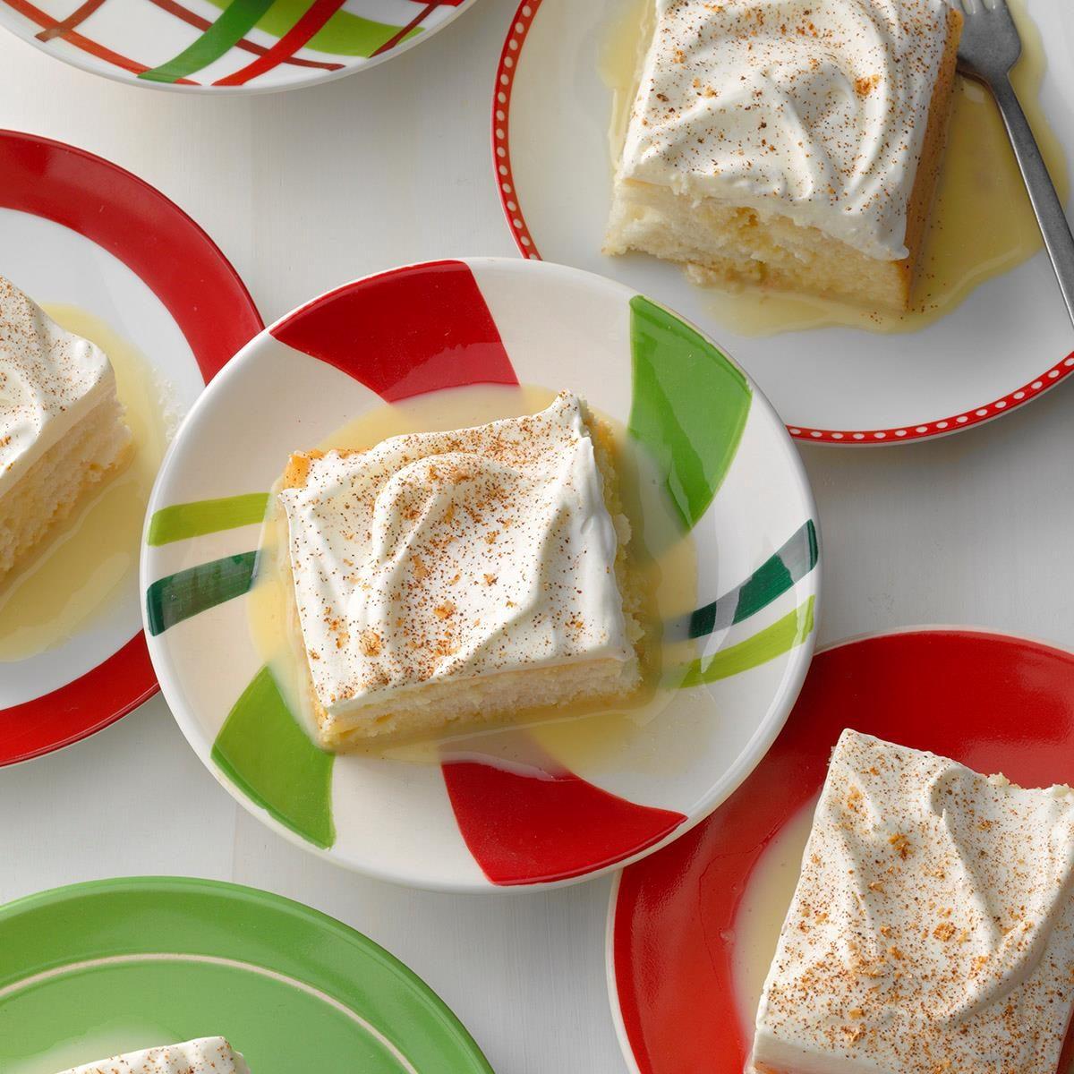 Illinois: Eggnog Tres Leches Cake