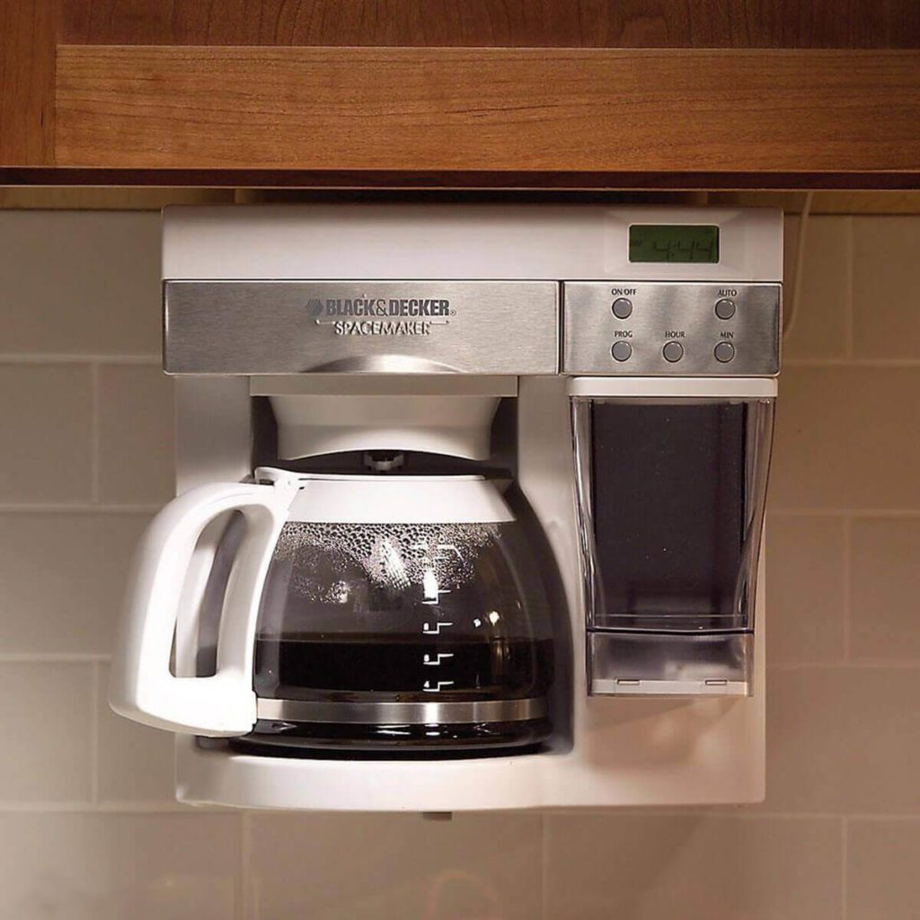 Under-cabinet coffee maker