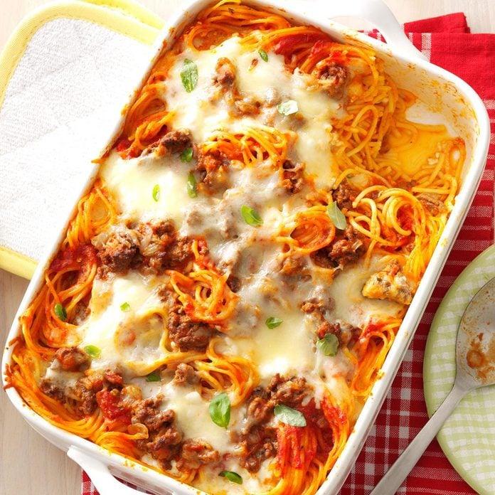 Day 8: Baked Spaghetti