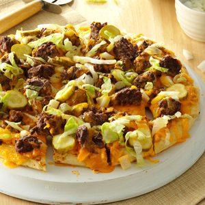 Favorite Cheeseburger Pizza