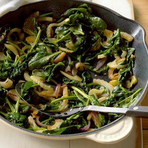 Fennel Spinach Saute