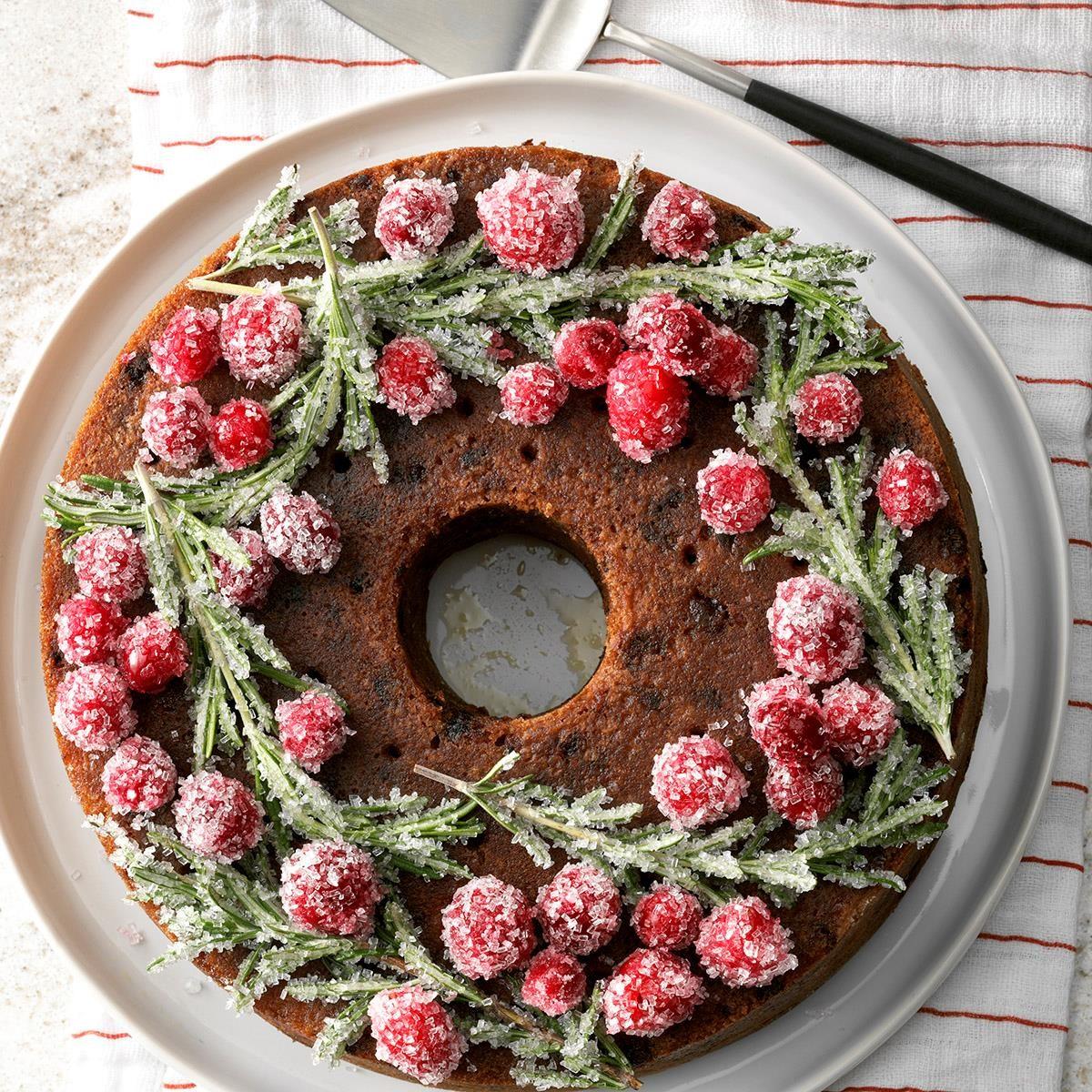 Alaska: Festive Cranberry Cake