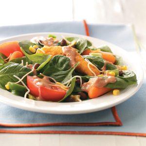 Fiery Chicken Spinach Salad
