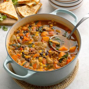 Fiesta Chorizo-Chicken Soup
