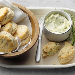 Flaky Biscuits with Herb Butter