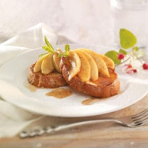French Toast for Two with Apple Topping