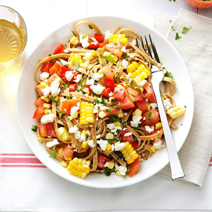 Fresh Corn and Tomato Fettuccine