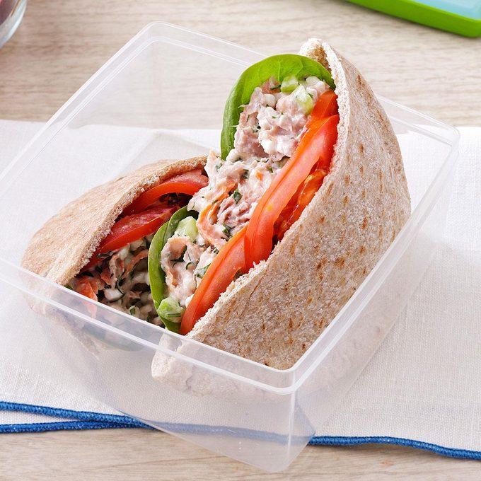 Garden Tuna Pita Sandwiches