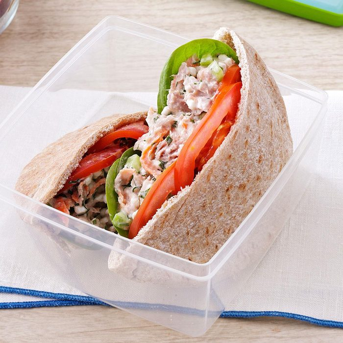 Day 7 Lunch: Garden Tuna Pita Sandwiches