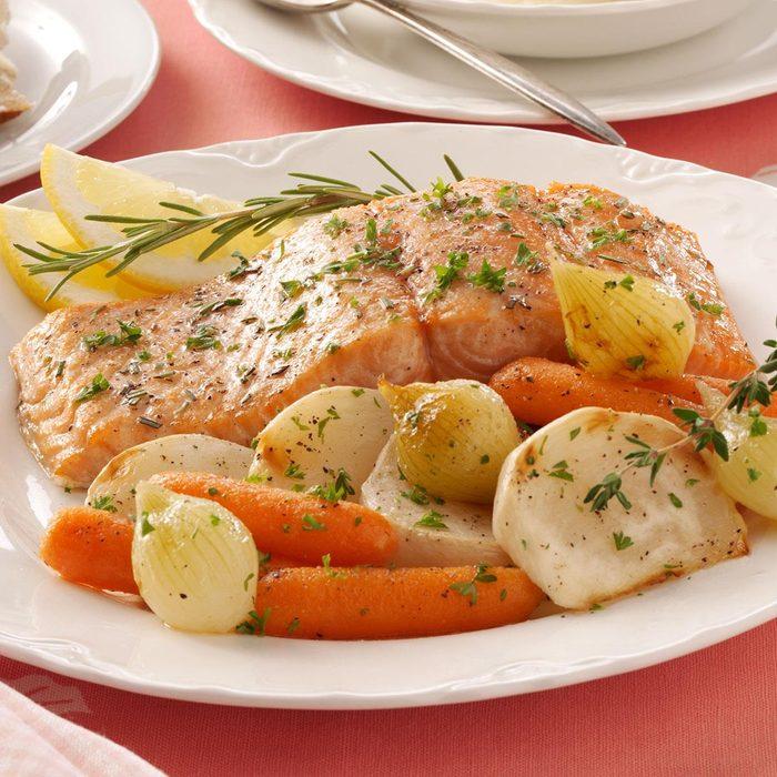Garlic-Butter Baked Salmon