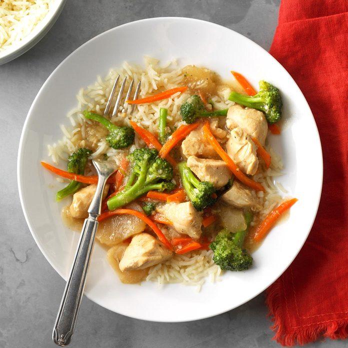 Garlic Chicken and Broccoli